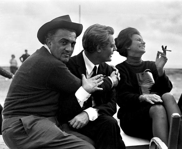 Fellini, Mastroianni, and Loren.