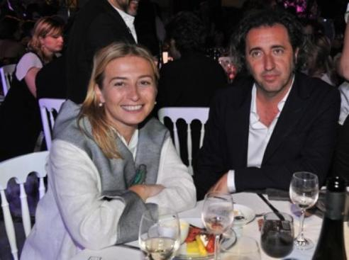 Paolo Sorrentino and his wife Daniela.