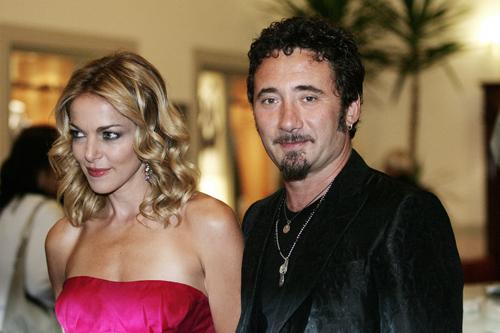 Claudia Gerini and director Federico Zampaglione