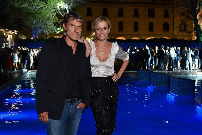 Isabella Ferrari and her husband Renato De Maria
