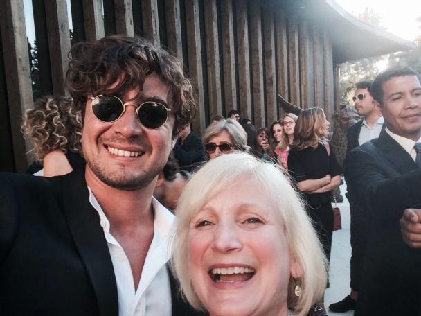 Me and Riccardo Scamarcio, producer of La Vita Oscena