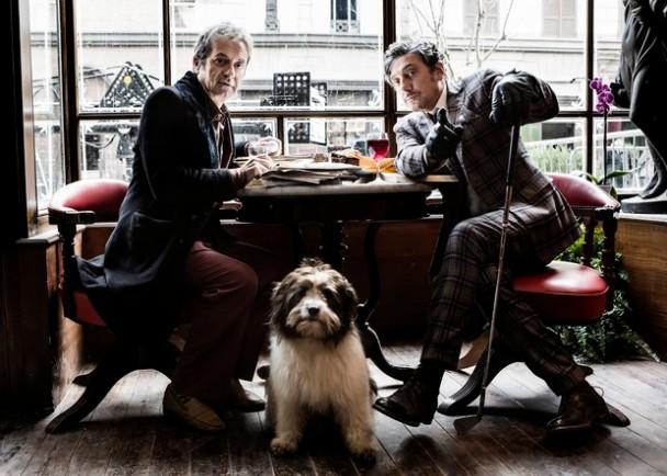 """Sergio Castellitto e Rocco Papaleo durante la lavorazione del film """"La Buca"""", regia di Daniele CiprìRoma-Svizzera 2013-2014"""