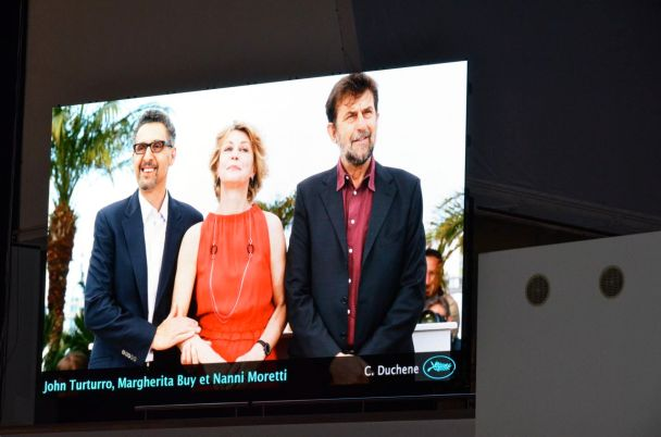 The cast of Mia Madre at Cannes, thanks to our friend Gilles Vauclair, who is there.
