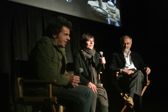 Vlad Radovic and producers Olivia Musini and Luigi Musini spreading the word in NYC