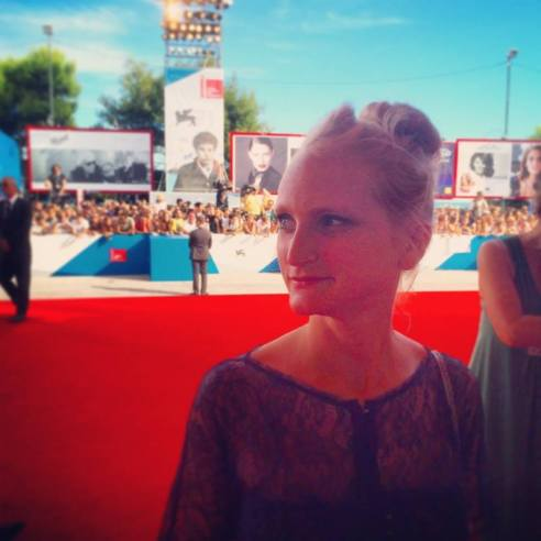 Lauren on the red carpet at the Venice Film Festival.