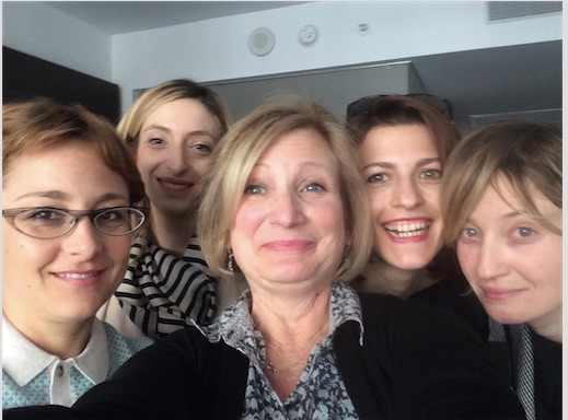 Just another day on the job for Cheri at I Love Italian Movies (with Laura Bispuri, Marta Donzelli, Flonja Kodheli and Alba Rohrwacher)