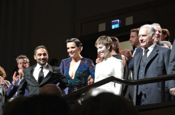 Piero Messina and his cast at L'Attesa Venice Film Festival premier.