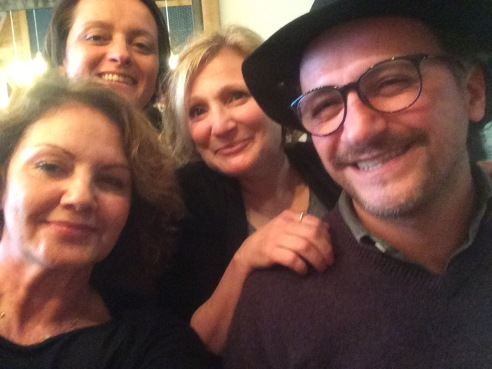 Me with Pia, producer Adriana Bruno and Antonello.