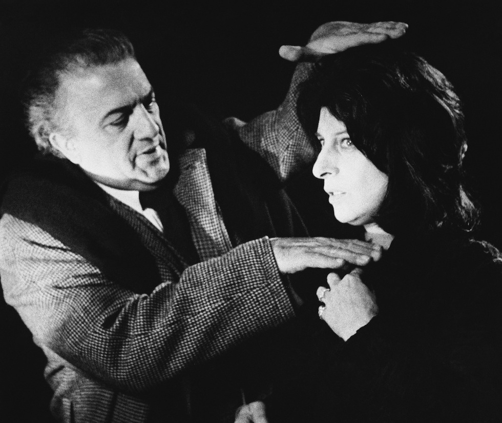 Federico Fellini the foaming of a close-up of Italian movie and stage star Anna Magnani he Rome in 1970. He is been on the set of the movie ?Roma? which he is directing. (AP Photo)