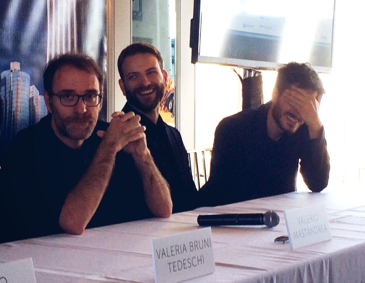 Valerio Mastandrea, Alessandro Borghi, and Luca Marinelli in LA for the premiere.