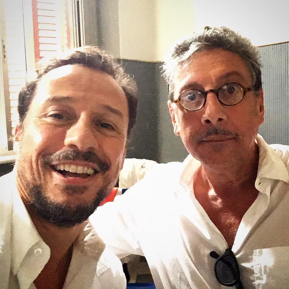 Stefano Accorsi with Sergio Castellitto
