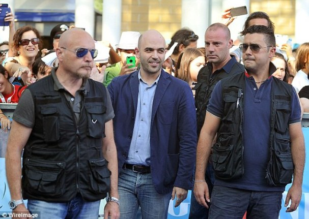 Roberto Saviano and his body guards